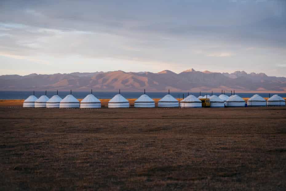 Yurts at Son Kul lake, Kyrgyzstan
