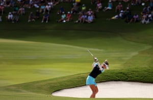 Nelly Korda on the 14th hole.