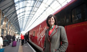 Claire Perry, the transport minister, at London's King's Cross station for the Virgin Trains East Coast service to Newcastle.