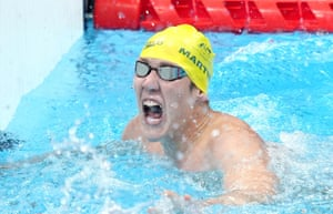 Australia's William Martin wins the Men's 400m Freestyle S9 Final.