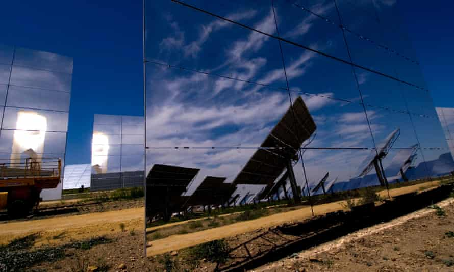 In the heart of Andalusia the PS10 is the world's first commercial solar tower power plant