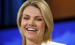 Rising state department star Heather Nauert is a former Fox News anchor.