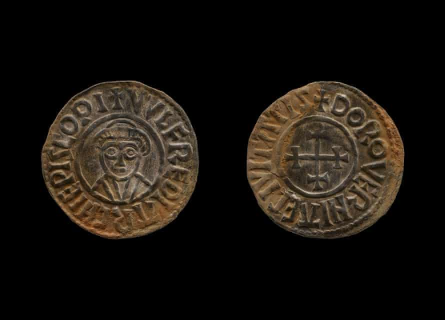A coin from the hoard.
