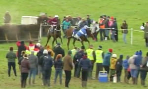 Michael Sweeney is out of the saddle and seemingly doomed after Ask Heather's last-fence blunder on Sunday.