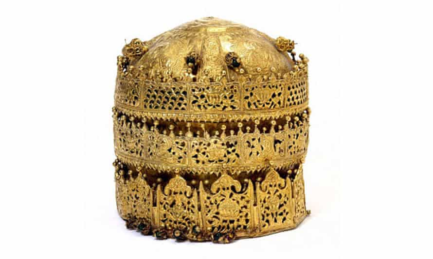 A crown from the Maqdala 1868 exhibition at the Victoria and Albert Museum