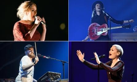 Adele, James Bay, Jack Garratt and Jessie J.