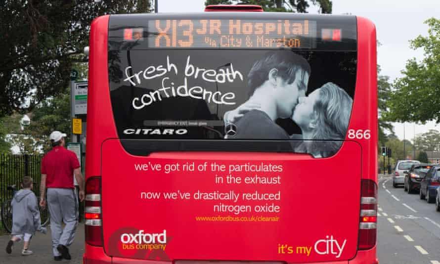 A clean air bus in Oxford