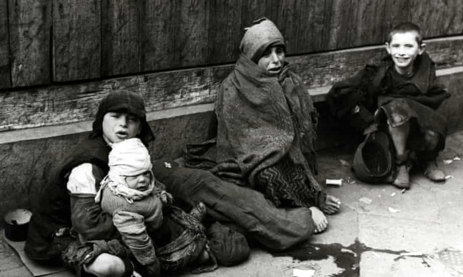 Children in the street in the Warsaw Ghetto in Poland, 1941.