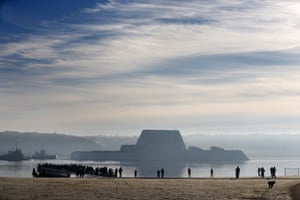 The first Zumwalt-class destroyer, the largest ever built for the US Navy