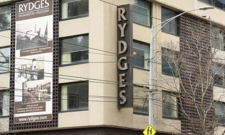 File photo of the Rydges on Swanston hotel in Melbourne, Australia