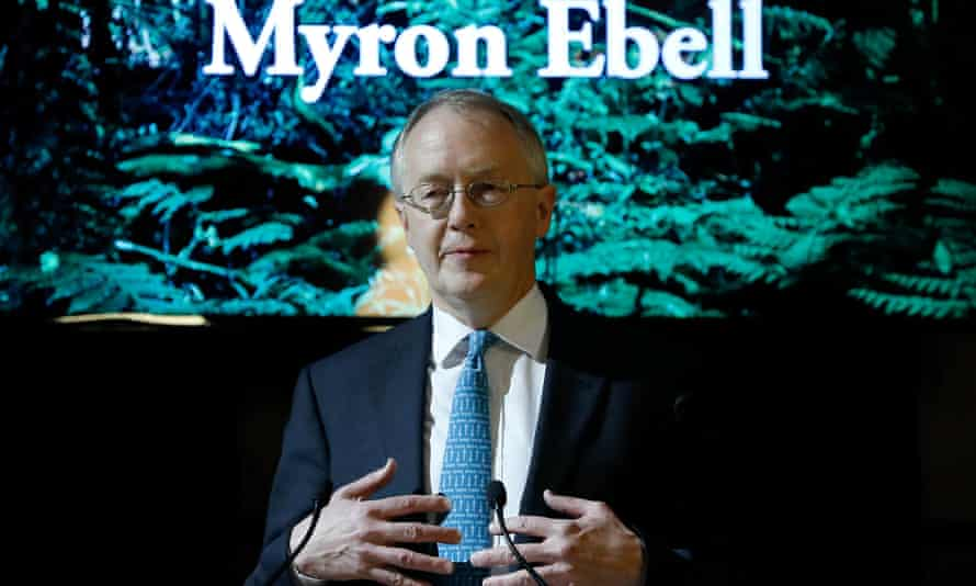 Myron Ebell, who led Trump's EPA transition team, makes a speech in Brussels