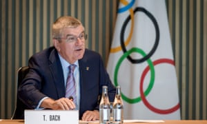 Thomas Bach, the International Olympic Committee's president. The IOC has left the door open for Russian athletes to compete at Tokyo 2020.