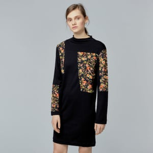 Warehouse's dark floral dress.