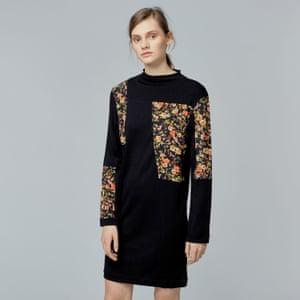 Warehouse's dark floral dress.