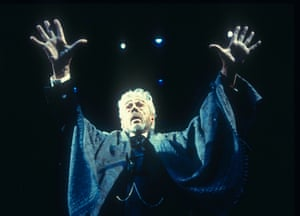 Paul Scofield in John Gabriel Borkman, directed by Richard Eyre at the National Theatre, 1996.