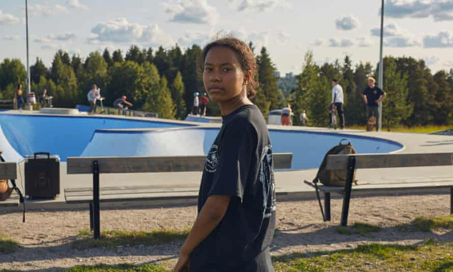 Iso-Vilunen, pictured, is now the biggest concrete outdoor skatepark in Finland.
