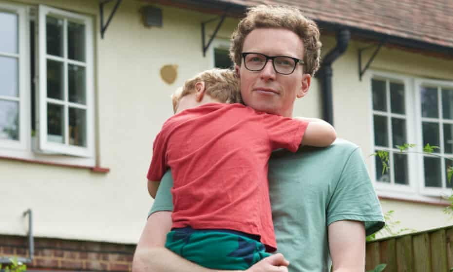 Tom Lamont with his son.