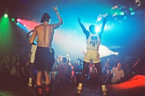 Rappers at Pratty 1986, a queer dance party held by the Recreational Arts Team (RAT).