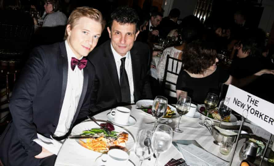 Ronan Farrow and David Remnick at the Committee to Protect Journalists' International Press Freedom Awards at the Grand Hyatt in New York, November 2017