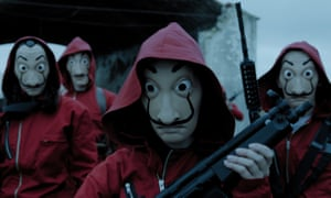 A scene from Spanish crime drama Money Heist.