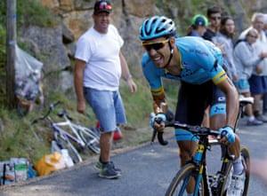 Astana Pro Team rider Omar Fraile of Spain.