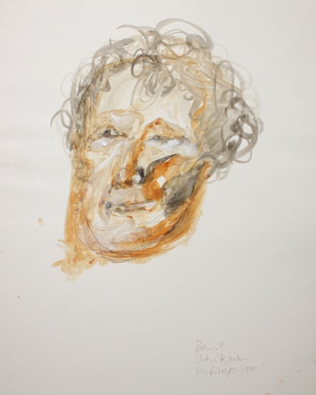 Portrait of Seamus Heaney by Barrie Cooke, c 1980.