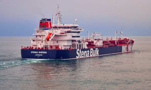 The British oil tanker that was seized in the Strait of Hormuz.