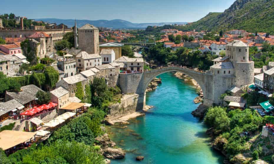 River Neretva and city of Mostar.