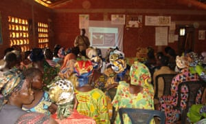 A town-hall meeting of the ICC with women's groups in Bossembele, in 2010