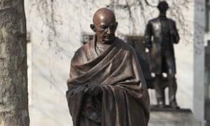 A statue of Mahatma Gandhi in London