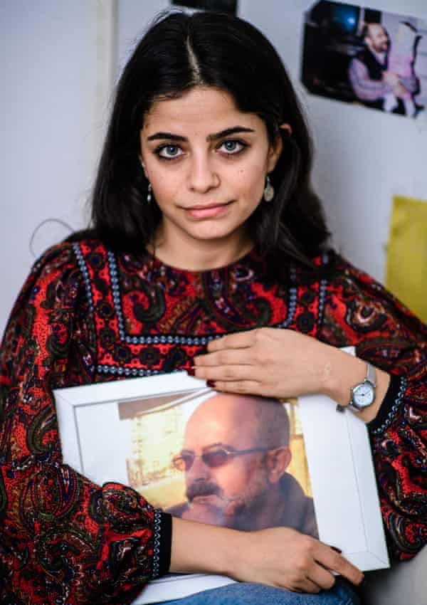 Mustafa with a picture of her father … 'He was really a hero to us.'