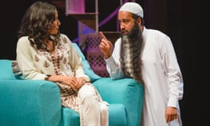 Furtive lechery … Asif Khan, right, with Sasha Behar in the Royal Shakespeare Company production of Tartuffe.