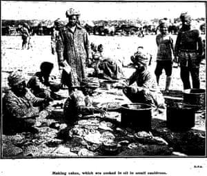 Indian troops encamped in France, 8 October 1914