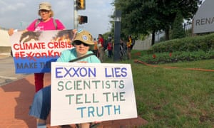 ExxonMobil is accused of failing to reveal the full extent of their impact on the climate crisis.