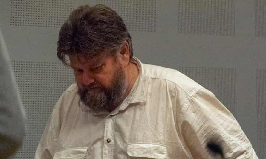 Carl Beech at an extradition hearing in Gothenburg, Sweden, in October 2018.
