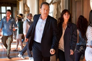 Tom Hanks and Felicity Jones in Inferno, which the critics said wasn't too hot