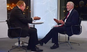 Jeremy Corbyn four times refused to apologise for his failure in an interview with Andrew Neil.