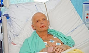 Alexander Litvinenko in London's University College Hospital in 2006, three days before he died from the radioactive polonium in his body.