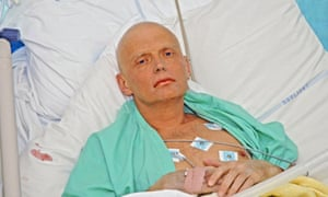 Alexander Litvinenko is pictured at the intensive care unit of University College hospital in London on 20 November 2006 after being poisoned with a radioactive substance.