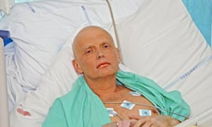 Alexander Litvinenko a few days before his death.