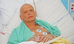 Alexander Litvinenko in hospital after being poisoned