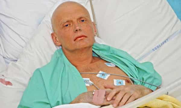 Litvinenko at University College hospital three days before he died.