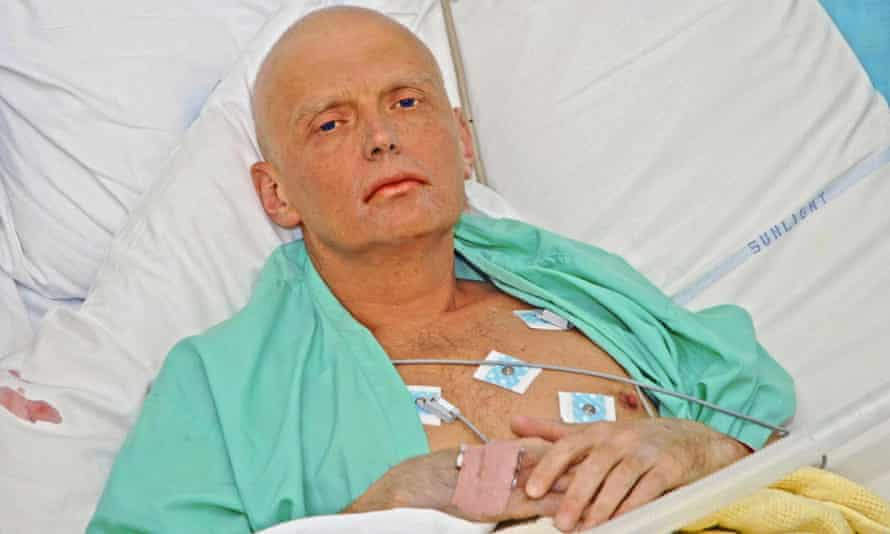 Alexander Litvinenko is pictured at the intensive care unit of University College Hospital in London.