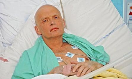 Litvinenko in intensive care in 2006.