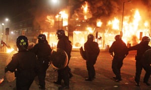 """Police funding<br>File photo dated 07/08/11 of the summer riots. Police would face """"real challenges"""" tackling a repeat of the 2011 riots following years of budget cuts, one of Britain's most senior officers has warned. PRESS ASSOCIATION Photo. Issue date: Friday June 23, 2017. A series of major incidents to hit the country in recent weeks has laid bare the strains faced by forces under financial pressure, raising the risk of a breakdown akin to that which hit the prison service in 2016, Dave Thompson said. See PA story POLICE Funding. Photo credit should read: Lewis Whyld/PA Wire"""