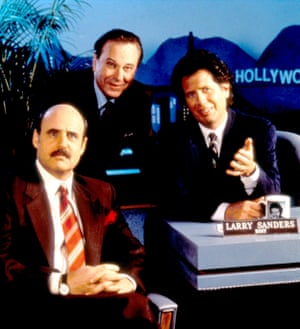 Rip Torn (centre) as TB producer Artie, with Jeffrey Tambor and Garry Shandling in The Larry Sanders Show.