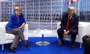 Angela Merkel and President Trump