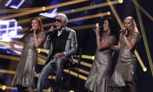 Eighty-seven-year old Owe Thornqvist competing to represent Sweden in the Eurovision Song Contest on Friday night.