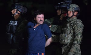 Mexican authorities hold drug lord Joaquin 'El Chapo' Guzmán.
