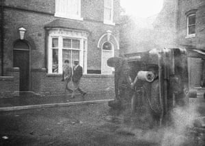 """Handsworth Riots: Birmingham, UK 1985 Pogus Caesar extensively documented the Handsworth riots which lasted for two days. The images were not seen publicly for over 20 years because Caesar didn't want the riots – or Black people -to be sensationalised. Even today, the question is still asked """"how could a tiny spark turn into such a gigantic flame."""" 'By immersing oneself in the midst of things hopefully you can document a number of aspects, not just the sensational and stereotypical photographs that were published by the media. It's important to remember, throughout the terrible sadness, the residents of Handsworth and Lozells had lives to lead.'"""